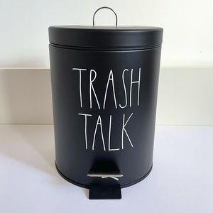 Rae Dunn TRASH TALK push garbage bin